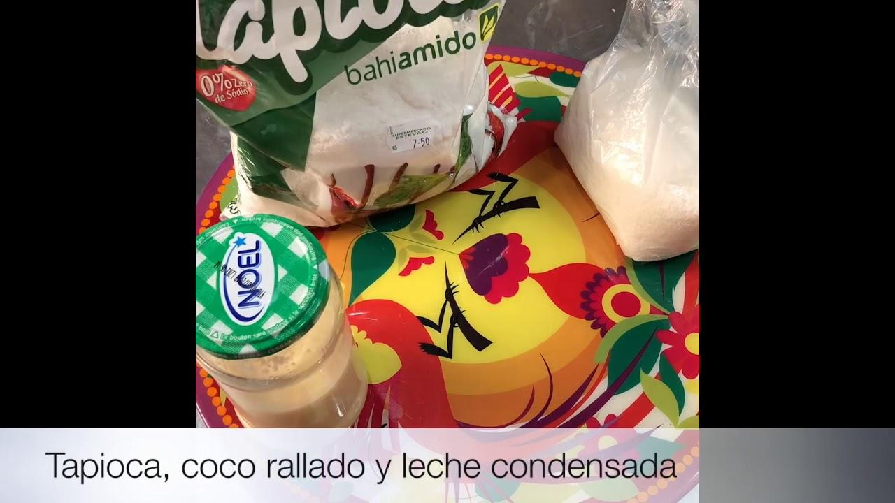 Tapioca Brasilera Con Coco Y Leche Condensada Casera