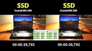 Crucial MX300 vs. Crucial MX500 - SSD Speed test