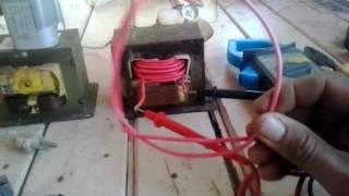 transformador 12V  de microondas