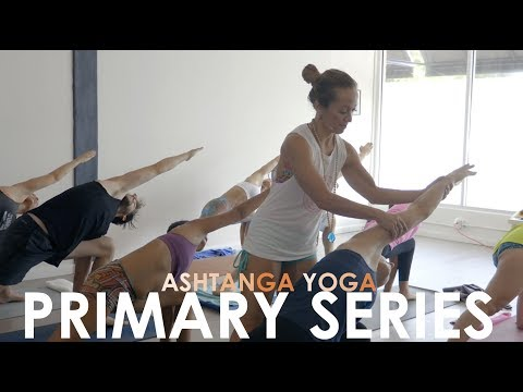 Ashtanga Yoga Led Primary Series with Kino --  Virabhadrasana B, Warrior Two, OmStars Class Sample