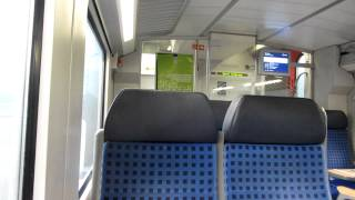 Berlin suburban train announcement with tone