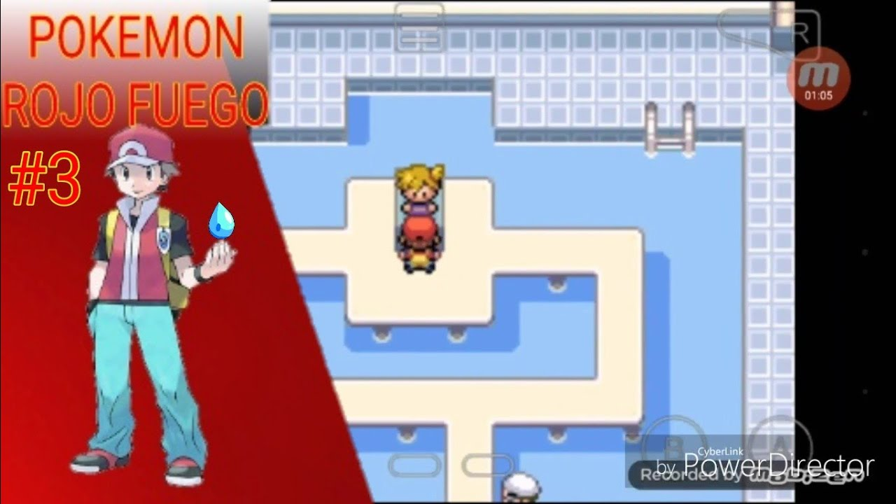gimnasio de tipo agua pok mon rojo fuego youtube