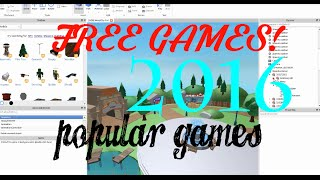 [2016] Roblox 140+ Free Places! [POPULAR GAMES!][PATCHED]