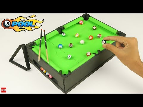 How to Build Pool Table at Home - Miniature Billiards 🎱