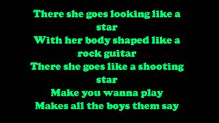 Taio Cruz - There she goes Lyrics [HD/HQ]