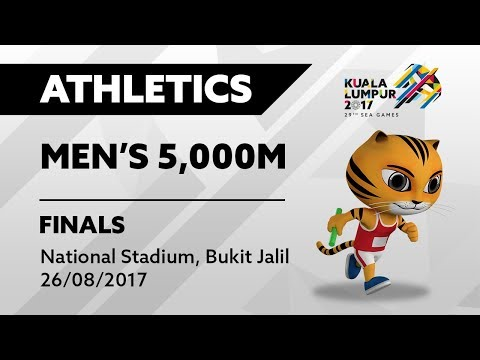 KL2017 29th SEA Games | Athletics - Men's 5,000m FINALS | 26/08/2017