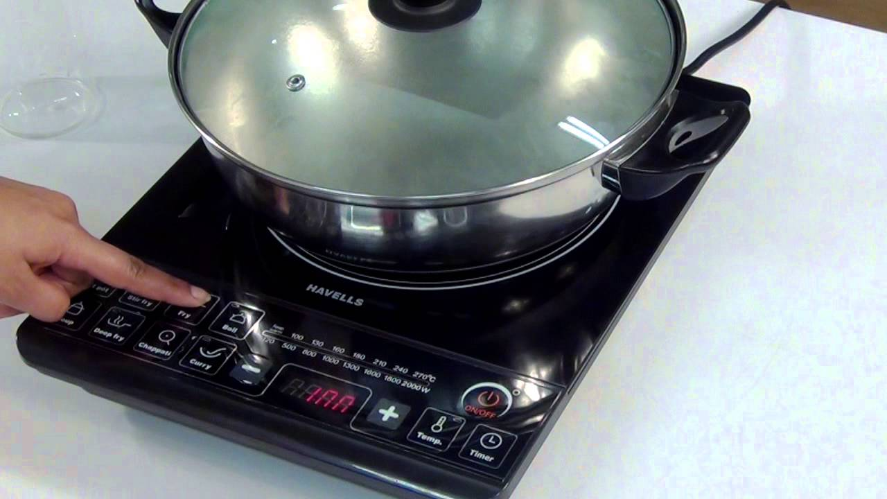 Making A Burner For Cooker ~ Havells induction cooktop demonstration video youtube