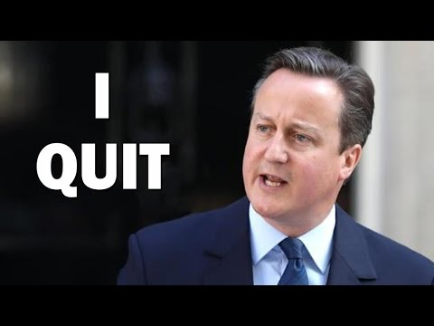 I QUIT Says David Cameron After UK Votes to Leave EU
