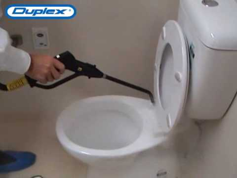 How to Steam Clean Hospital Bathroom Toilets in 4 minutes