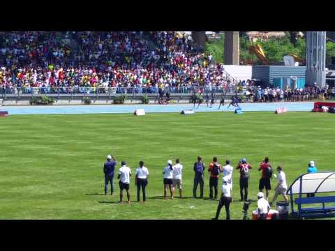 Usain Bolt runs the 200m at Icahn Stadium Adidas G