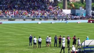 Usain Bolt runs the 200m at Icahn Stadium Adidas G