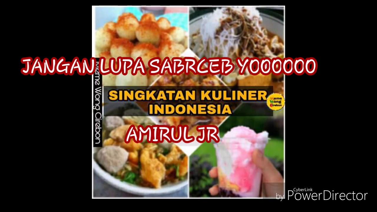 7 Singkatan Makanan Dan Minuman Khas Indonesia Youtube