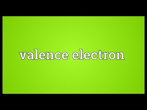 Valence electron Meaning
