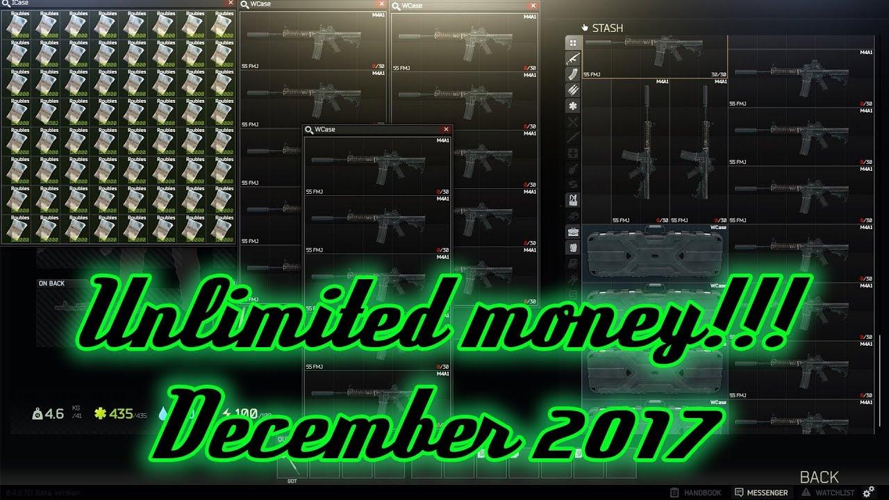 Escape From Tarkov UNLIMITED MONEY DECEMBER 2017 (Disclaimer in desc)