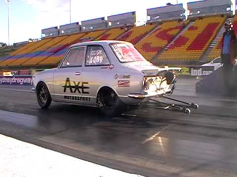 Mazda Rotary 13b Turbo Ed Toyota Corolla Drag Car Runs 8 Seconds