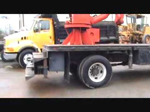 For Sale Chevrolet C7500 18' Flatbed Truck W/ Skyhook Crane Boom & Bidadoo.com