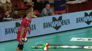 Gas Sales Piacenza vs Elios Messaggerie Catania 3-0: Gli Highlights