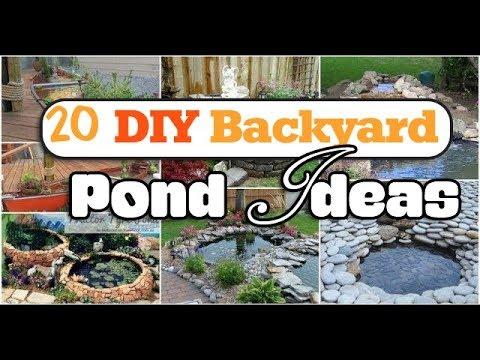 20 diy backyard pond ideas youtube