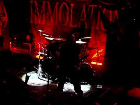 """Immolation, """"Intro/ A Thunderous Consequence"""", Montreal, Foufounes Electriques, 3 octobre 2010."""