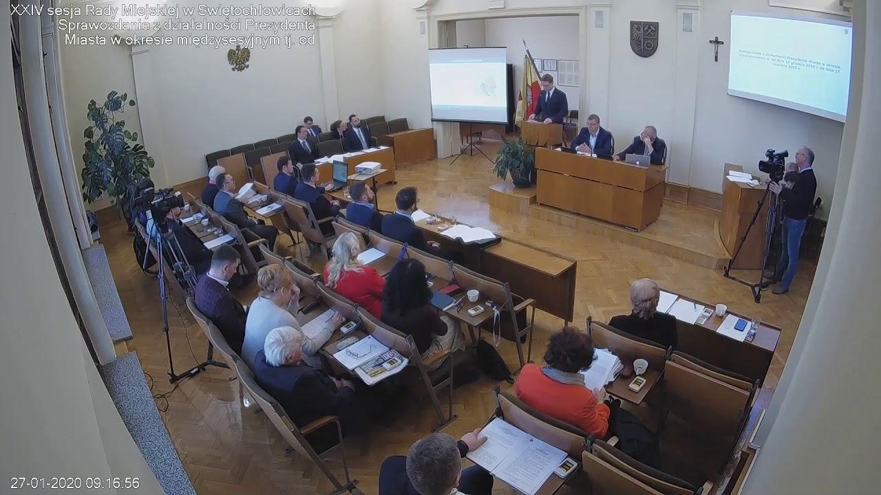 XXIV Sesja Rady Miejskiej - 27.01.2020