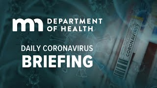 March 21: Mn Dept. Of Health Daily Coronavirus Briefing
