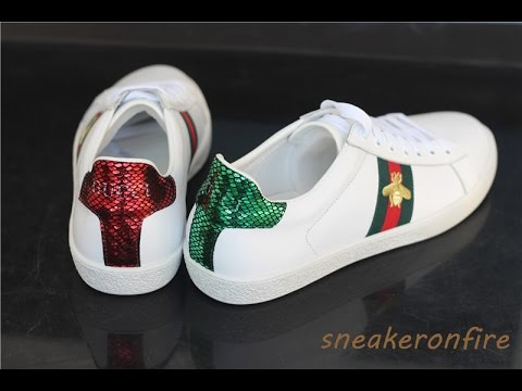 Gucci Ace Top Embroidered Sneakers - YouTube 10ef8a1ee6