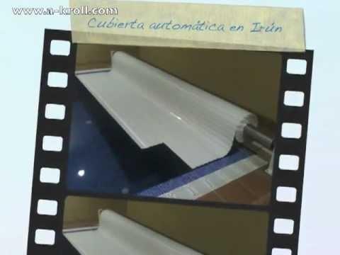 Cubierta automática de piscina tipo persiana instalada en Irún