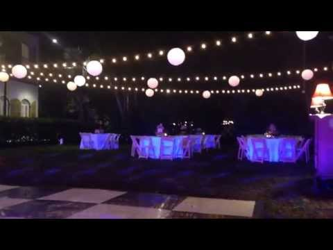 Lighting at Ernest Hemingway House Wedding DJ Kiss Me Entertainment Key West