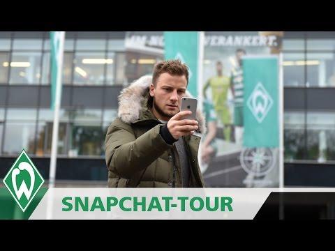 Philipp Bargfrede mit Stadionführung | Snapchattour durchs Weser-Stadion | SVW