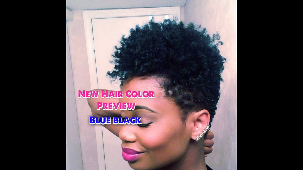 My New Hair Color Preview!!!! Natural Blue Black - YouTube
