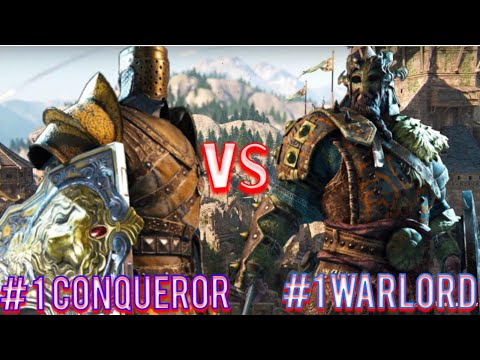 For Honor - Number 1 Ranked Warlord Vs Number 1 Ranked Conqueror!