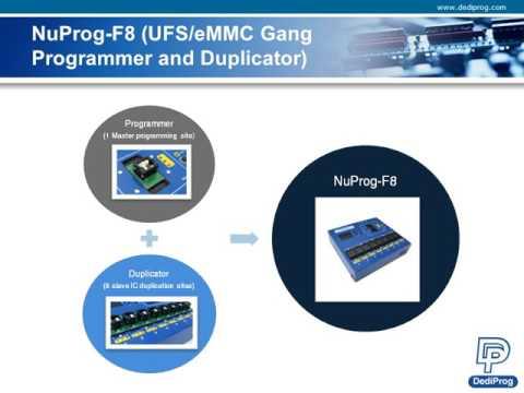 UFS (Universal Flash Storage) 메모리 IC 프로그래밍 솔루션 (개발/양산)