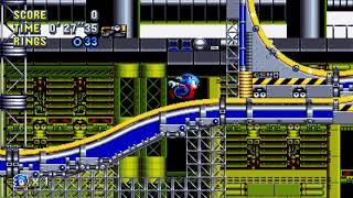 Sonic Mania - Chemical Plant 1 (Sonic) Speedrun in 34.65