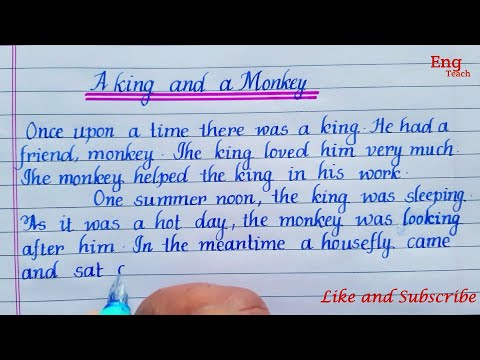 Story: A King and a Monkey  Story writing   English writing   Writing   moral story   Eng Teach
