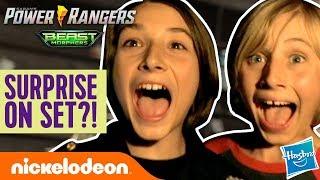 Gabe & Garrett's Mysterious Surprise On Set! | Power Rangers Beast-X Morphers Ep. 1 | Nick