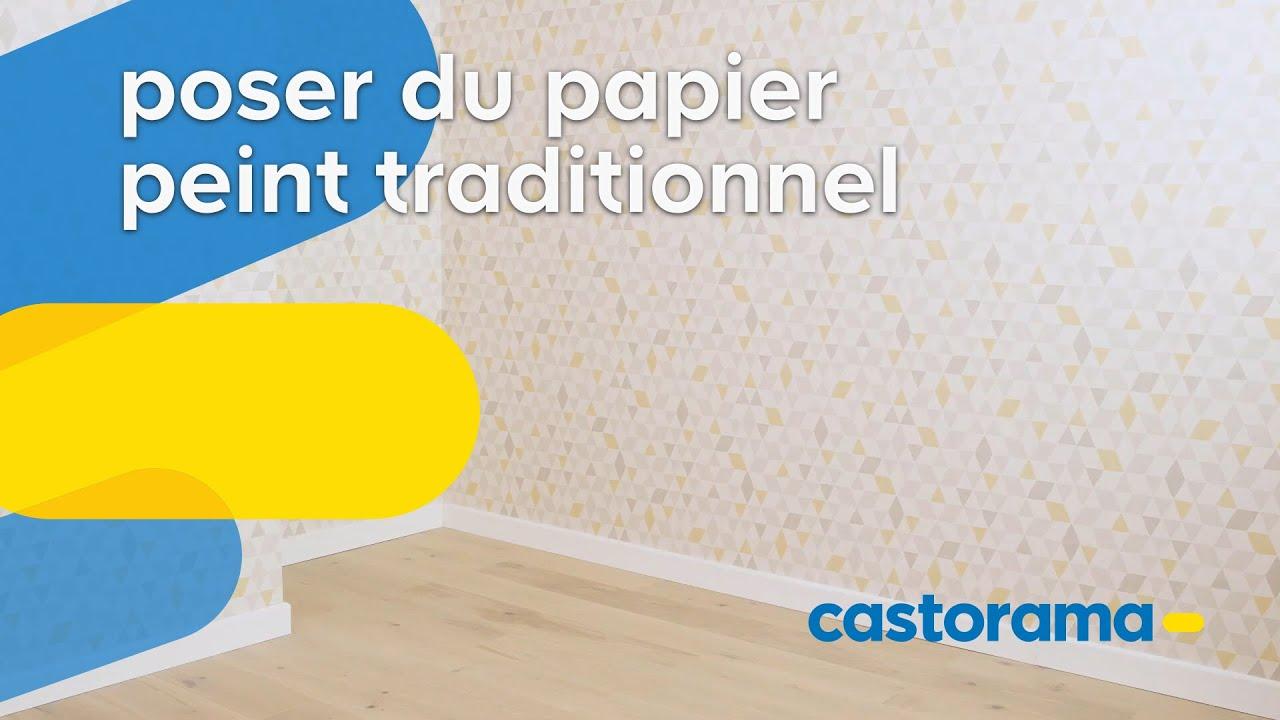 Comment poser du papier peint - Castorama - YouTube