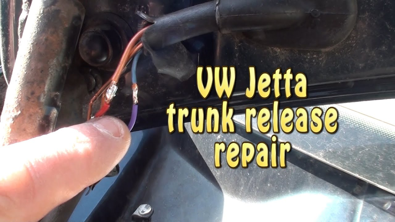 vw jetta trunk release repair  2002 model year