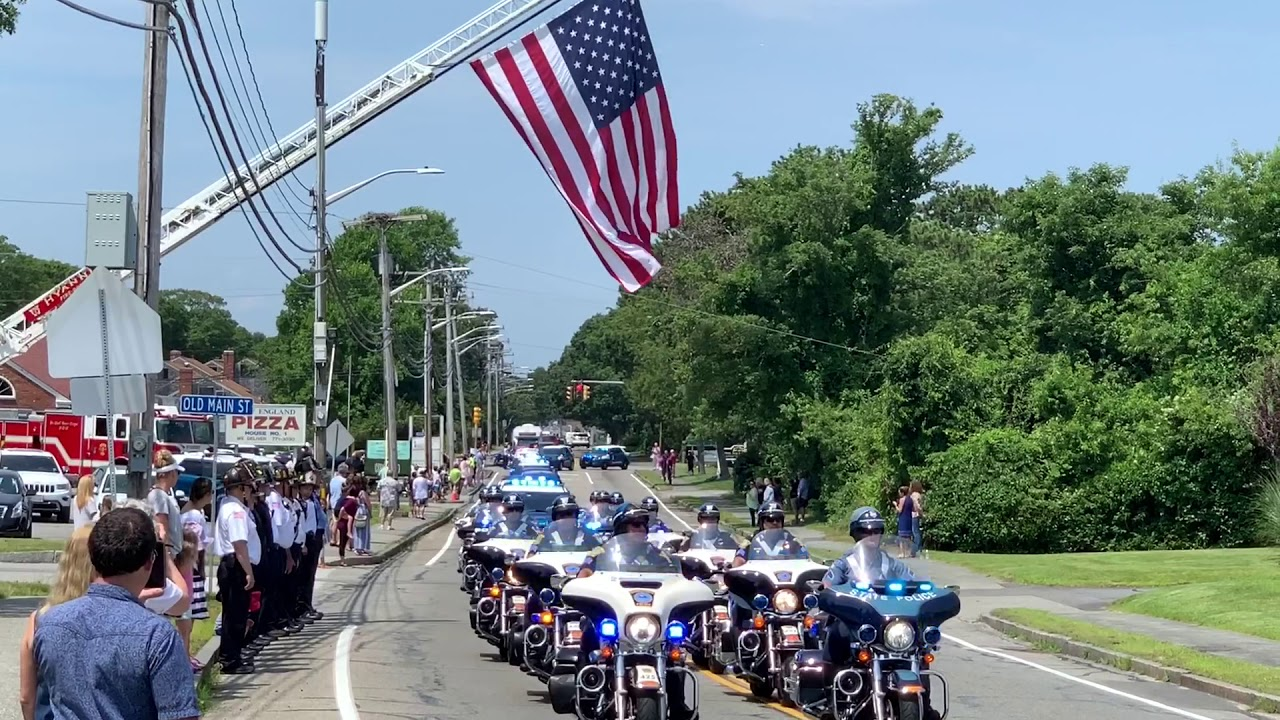 Police procession for Sgt  Jason Sturgis