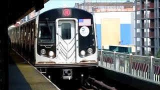 BMT Astoria Line: Eastbound R62A (7) and R160 (N) trains at Queensboro Plaza