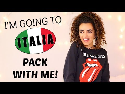 PACK WITH ME FOR ITALY! Carry on + Suitcase!