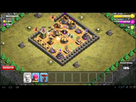 Clash of Clans Red Carpet Strategy Guide - Town Hall 5 - 3 Stars