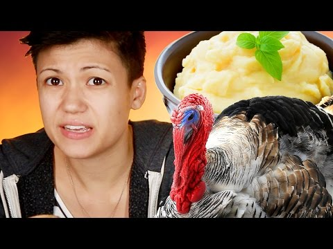 Thumbnail: People Try Bizarre Thanksgiving Ice Cream Flavors