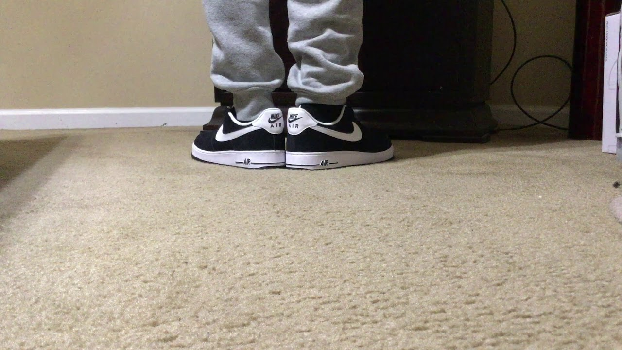 Nike Air Force 1 '07 LV8 Black And White Colorway *On Feet* (AF 1)