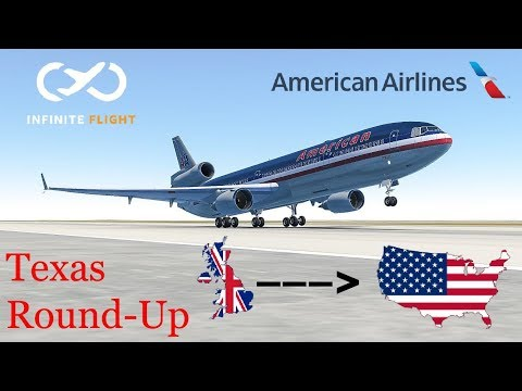 |Friday Night Flight| London to Dallas : American Airlines, MD-11 [Episode 2]