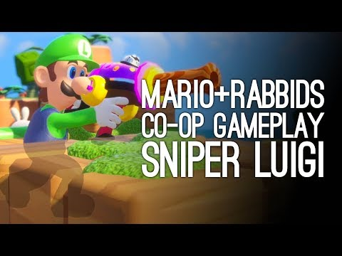 Mario Rabbids Gameplay: Mario Rabbids Kingdom Battle Co-Op - SNIPER LUIGI CONFIRMED KILL