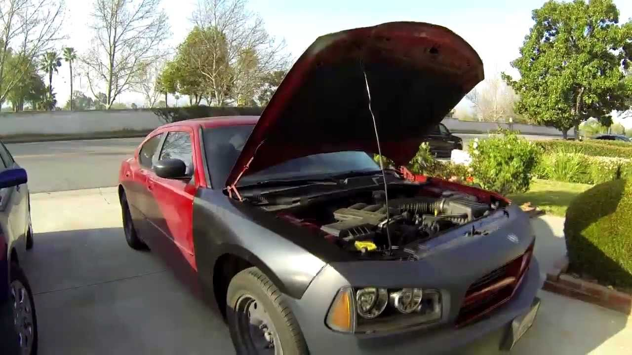 Front End Body Repair on 2006 Dodge Charger  YouTube