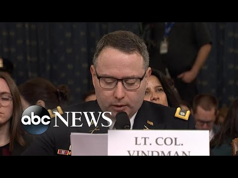 Key moments from Lt. Col. Vindman's testimony | ABC News