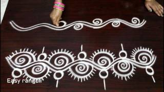 freehand rangoli border designs