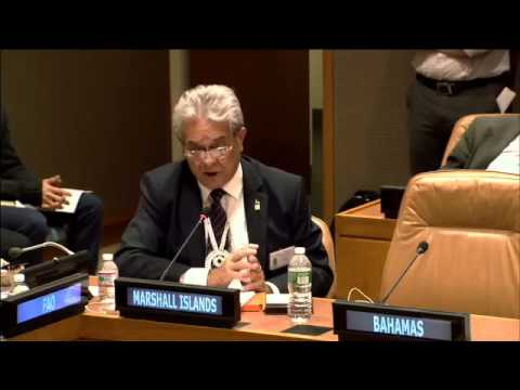 H.E. Tony deBrum (Marshall Islands) tells a story
