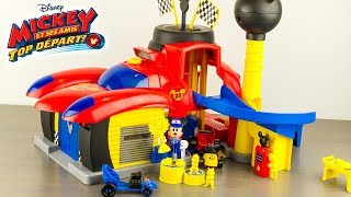 Garage De Mickey Top Départ Transformable Disney Roadster Racers Jouet Toy Review
